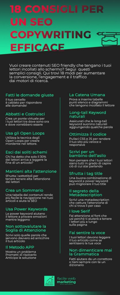 SEO copywriting 18 consigli Facile Web Marketing Nicola Onida