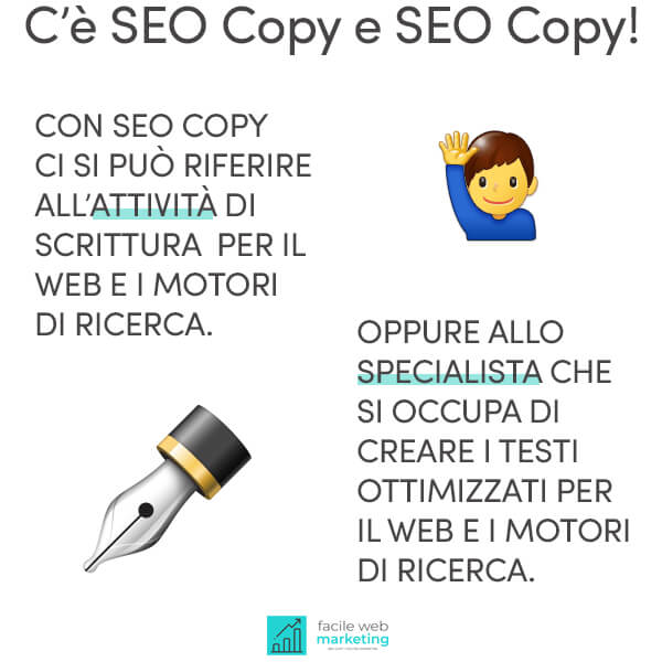 seo copywriting differenze Facile Web Marketing Nicola Onida