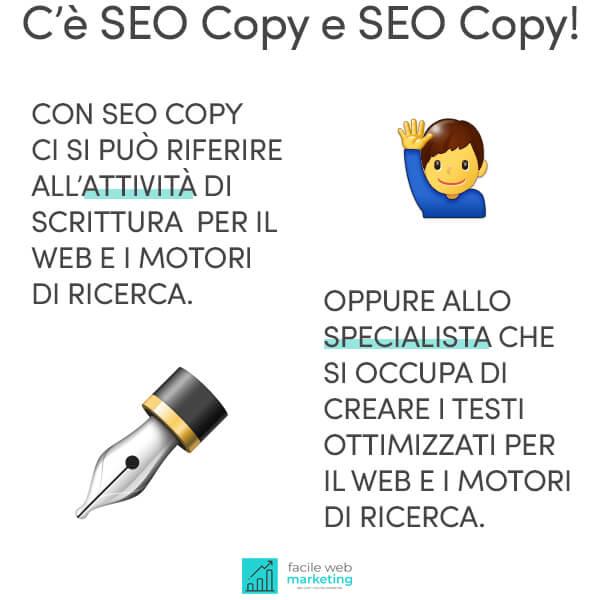 seo copywriting differenze Facile Web Marketing Nicola Onida