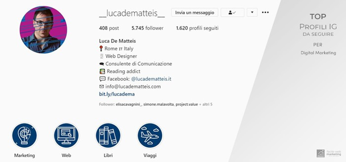 profili Instagram da seguire per il Digital Marketing luca de matteis Facile Web Marketing
