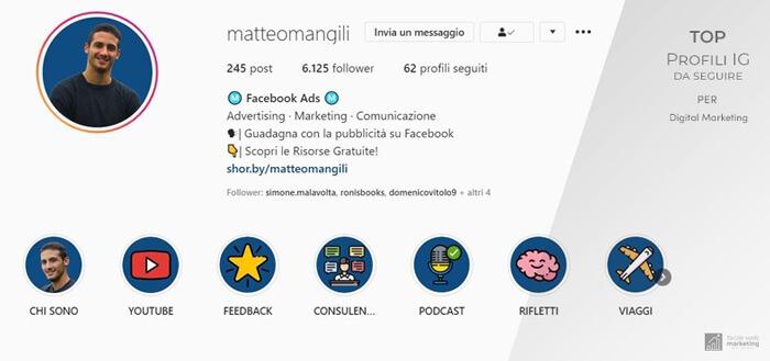 profili Instagram da seguire per il Digital Marketing matteo mangili Facile Web Marketing