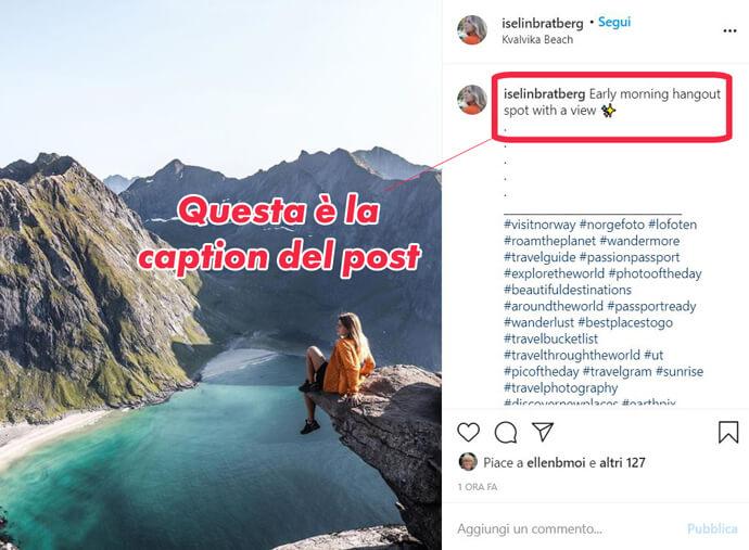Caption Instagram che cosa è Facile Web Marketing Nicola Onida