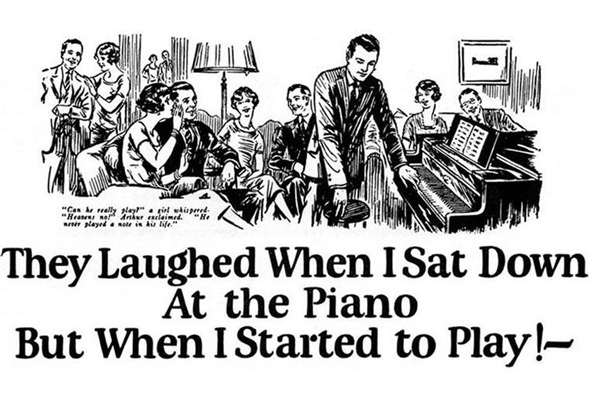 John-Caples-storia-del-copywriting-Hanno-riso-quando-mi-sono-seduto-al-pianoforte,-ma-quando-ho-iniziato-a-suonare! facile web marketing