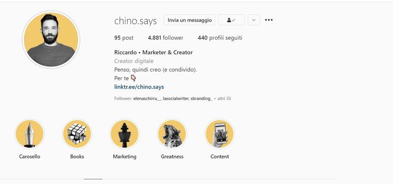 Riccardo Corsano profili instagram da seguire per il digital marketing
