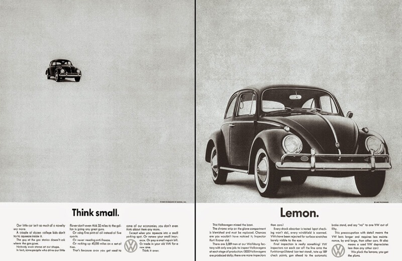 storia-del-copywriting-Bernbach-Volkswagen-Think-Small facile web marketing