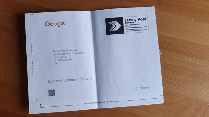 Google-My-Business-cartolina-codice Facile Web Marketing Nicola Onida SEO copywriter