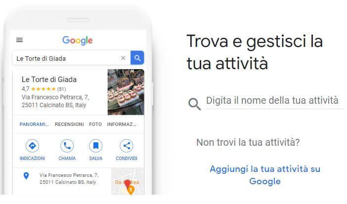 Google My Business creare nuova scheda Facile Web Marketing Nicola Onida SEO copywriter