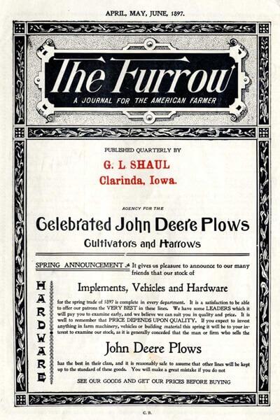 The Furrow Front Page 1897 Brand Journalism Nicola Onida Facile Web Marketing