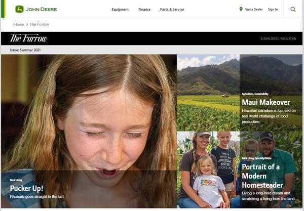 The Furrow Homepage Oggi Brand Journalism Nicola Onida Facile Web Marketing
